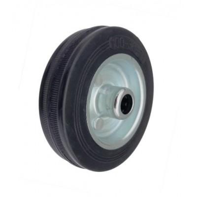 Колесо 100x27 ось 12x40 (000-001-100) металл/резина Lw