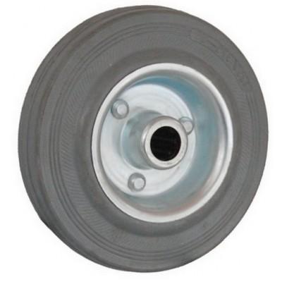 Колесо 75x22 ось 12x32 (000-002-075) металл/резина серая Lw