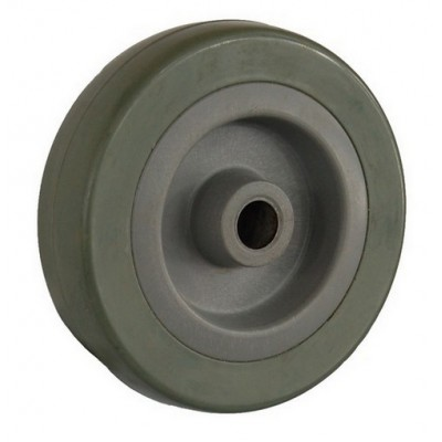 Колесо 75x22 ось 10x24 (000-100-075) пластик/резина Ls