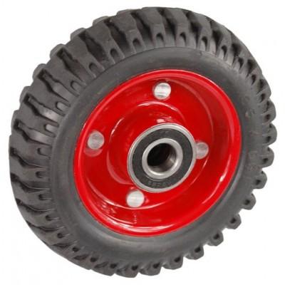 Колесо 160x50 ось 17x50 (000-200-160) металл/резина Lk