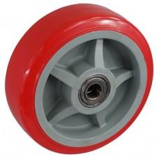 Колесо 200x50 ось 15x57 (000-210-200) пластик/полиуретан Lk