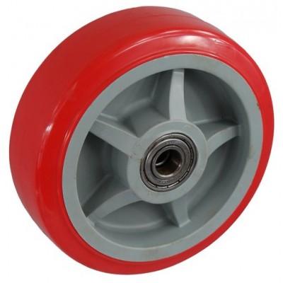 Колесо 100x50 ось 15x57 (000-210-100) пластик/полиуретан Lk