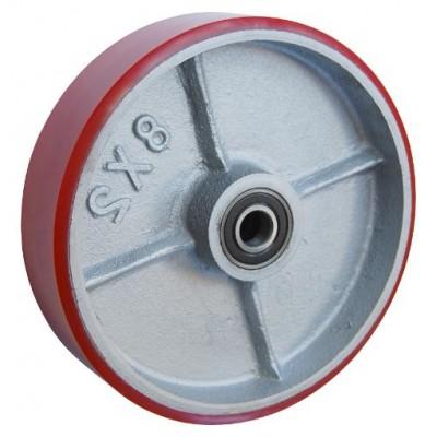 Колесо 150x50 ось 17x57 (000-225-150) чугун/полиуретан  Lk(6203)