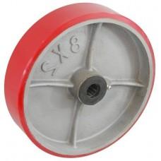 Колесо 125x50 ось 19x60 (000-226-125) чугун/полиуретан  Lw