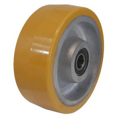 Колесо 150x75 ось 25x82 (000-227-150) чугун/полиуретан Lk (6205)