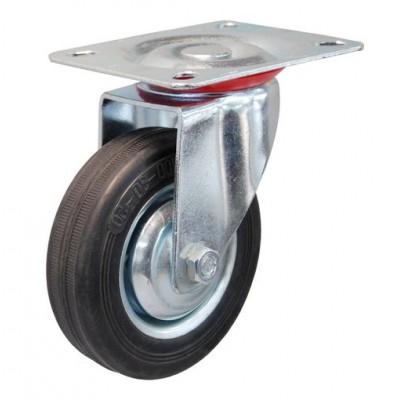 Колесо А 100 (001-001-100) с кронштейном поворотным металл/резина