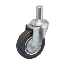 Колесо А 160 (010-001-160) с кронштейном поворотным металл/резина с осью fi.27