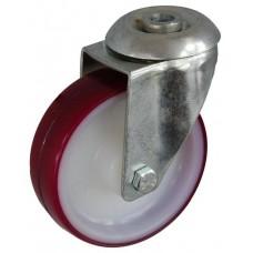 Колесо А 100 (006-024-100) с кронштейном поворотным полиамид/полиуретан с втулкой с отверстием 12,5