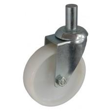 Колесо А 100 (010-022-100) с кронштейном поворотным полиамид с роликовым подшипником с осью fi.22