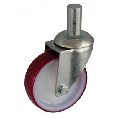 Колесо А 100 (010-026-100) с кронштейном поворотным полиамид/полиуретан с роликовым подшинником с осью fi.22
