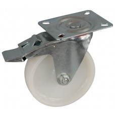 Колесо А 100 (002-020-100) с кронштейном поворотным полиамид с втулкой с тормозом