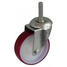Колесо А 100 (014-026-100) с кронштейном поворотным полиамид/полиуретан с роликовым подшипником болт М12