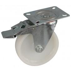 Колесо А 100 (002-022-100) с кронштейном поворотным полиамид с роликовым подшипником с тормозом