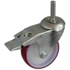Колесо А 100 (015-026-100) с кронштейном поворотным полиамид/полиуретан с роликовым подшипником болт М12