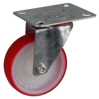 Колесо А 100 (001-026-100) с кронштейном поворотным полиамид/полиуретан с роликовым подшипником