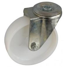 Колесо А 100 (006-022-100) с кронштейном поворотным полиамид с роликовым подшипником с отверстием 12,5