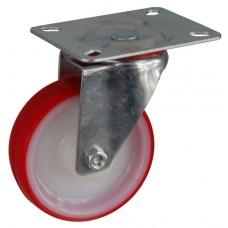Колесо А 100 (001-024-100) с кронштейном поворотным полиамид/полиуретан с втулкой