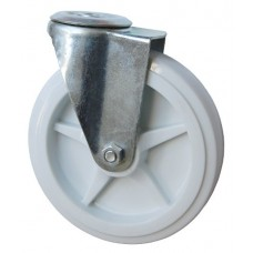 Колесо А 150 (006-040-150) с кронштейном поворотным полипропилен с отверстием 16,5