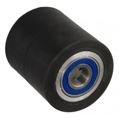 Колесо 80х60 ось 20х60 (000-250-860) алюминий/резина Lk 2x6204Z