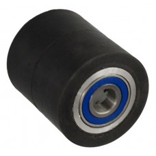Колесо 80х70 ось 20х70 (000-250-870) алюминий/резина Lk 2x6204Z