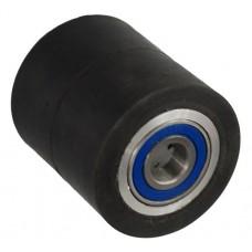 Колесо 80х100 ось 20х100 (000-250-810) алюминий/резина Lk 2x6204Z