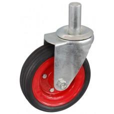 Колесо А 160 (010-009-160) с кронштейном поворотным металл/резина сборный диск с осью fi.27