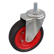 Колесо А 160 (014-009-160) с кронштейном поворотным металл/резина сборный диск болт М16