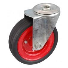 Колесо А 160 (006-009-160) с кронштейном поворотным металл/резина сборный диск с отверстием 16,5