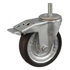 Колесо А 160 (015-009-160) с кронштейном поворотным металл/резина сборный диск болт М16