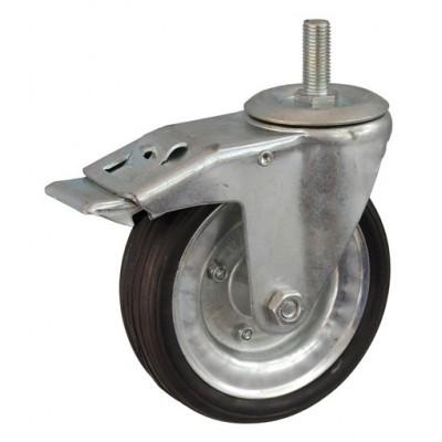 Колесо А 200 (015-009-200) с кронштейном поворотным металл/резина сборный диск болт М16