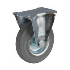 Колесо А 200 (003-002-200) с кронштейном металл/резина серая