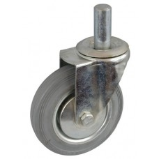 Колесо А 200 (010-002-200) с кронштейном поворотным металл/резина серая с осью fi.27