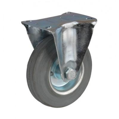 Колесо А 75 (003-002-075) с кронштейном металл/резина серая
