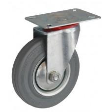 Колесо А 125 (001-002-125) с кронштейном поворотным металл/резина серая