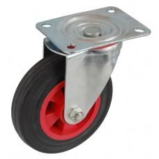 Колесо А 125 (001-003-125) с кронштейном поворотным пластик/резина