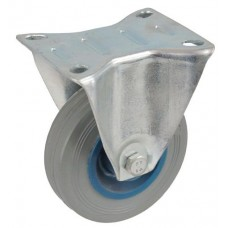 Колесо А 200 (003-004-200) с кронштейном пластик/резина серая