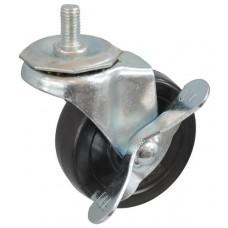 Колесо J 75 (279-071-075) с кронштейном поворотным резина болт М10 с тормозом