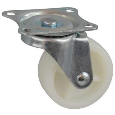 Колесо J 50 (271-057-050) с кронштейном поворотным пластик белый