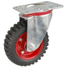 Колесо С 125 (101-200-125) с кронштейном поворотным металл/резина с шариковым подшипником