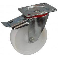 Колесо С 125 (102-021-125) с кронштейном поворотным полиамид с втулкой с тормозом