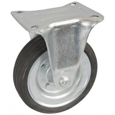 Колесо С 160 (103-009-160) с кронштейном металл/резина сборный диск