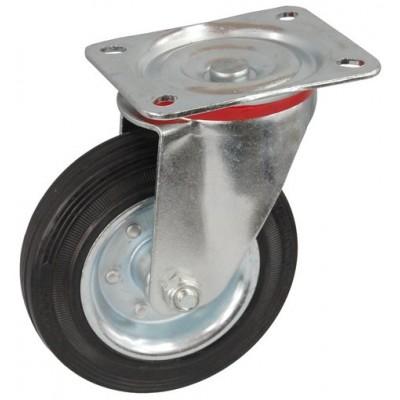 Колесо С 125 (121-010-125) с кронштейном поворотным металл/резина