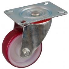 Колесо С 80 (101-024-080) с кронштейном поворотным полиамид/полиуретан с втулкой