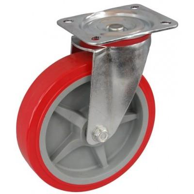 Колесо C 200 (101-210-200) с кронштейном поворотным пластик/полиуретан