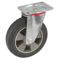 Колесо C 160 (101-250-160) с кронштейном поворотным алюминий/резина
