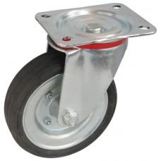 Колесо С 160 (101-009-160) с кронштейном поворотным металл/резина сборный диск