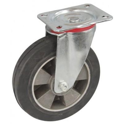Колесо C 200 (101-250-200) с кронштейном поворотным алюминий/резина