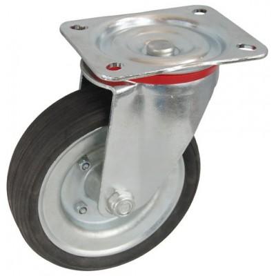 Колесо С 200 (101-009-200) с кронштейном поворотным металл/резина сборный диск