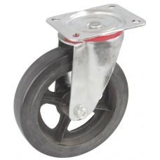Колесо C 150 (101-240-150) с кронштейном поворотным чугун/резина
