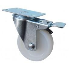 Колесо F 80 (202-021-080) с кронштейном поворотным полиамид с втулкой с тормозом